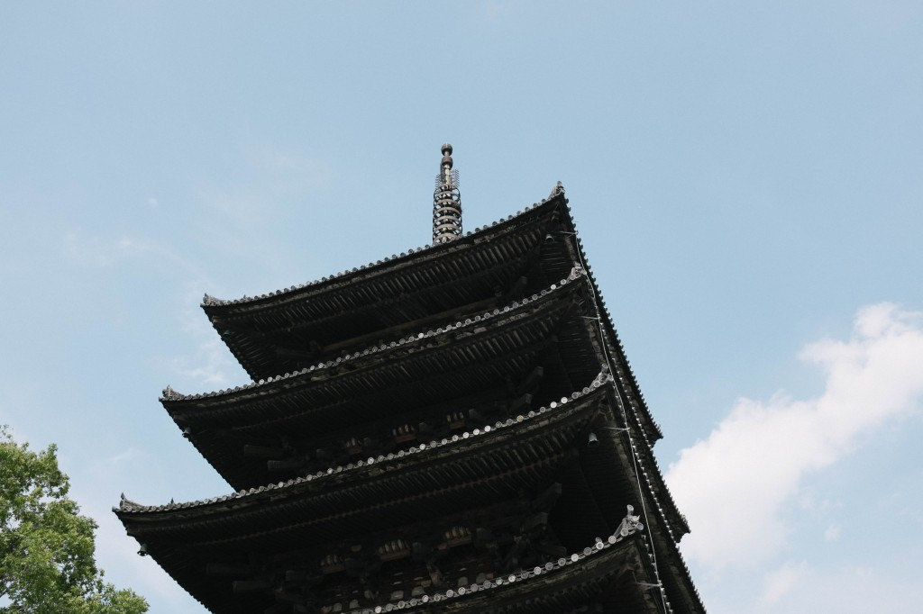 pagoda from below.