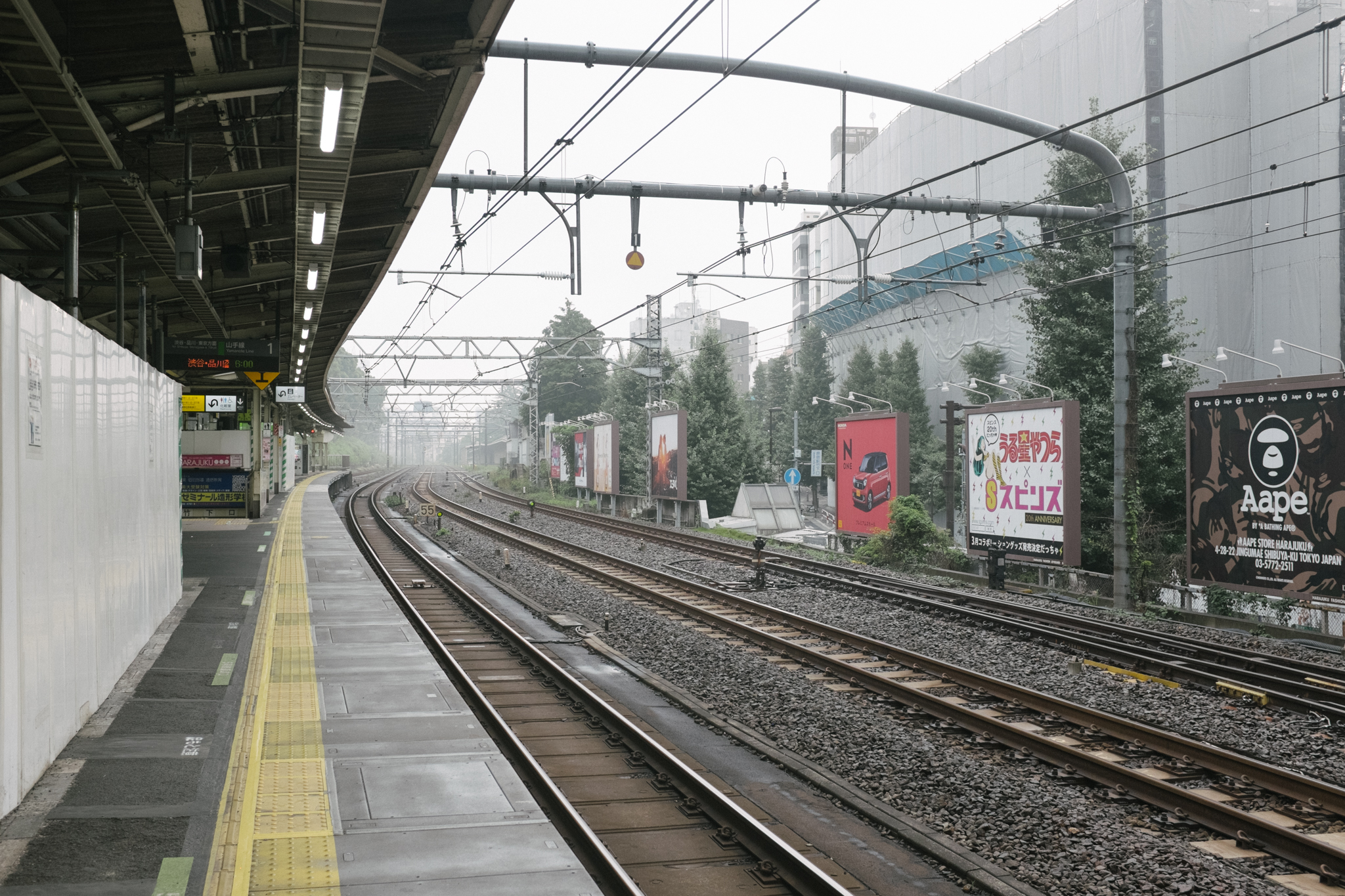 Harajuku station, veeeery early in the morning.