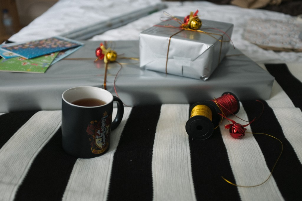 gift wrapping and tea.