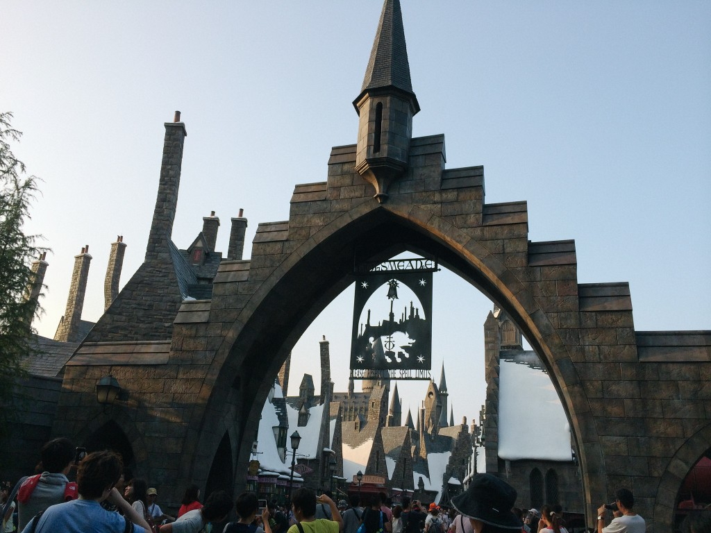 Hogsmeade ahead! This was soooooo exciting!