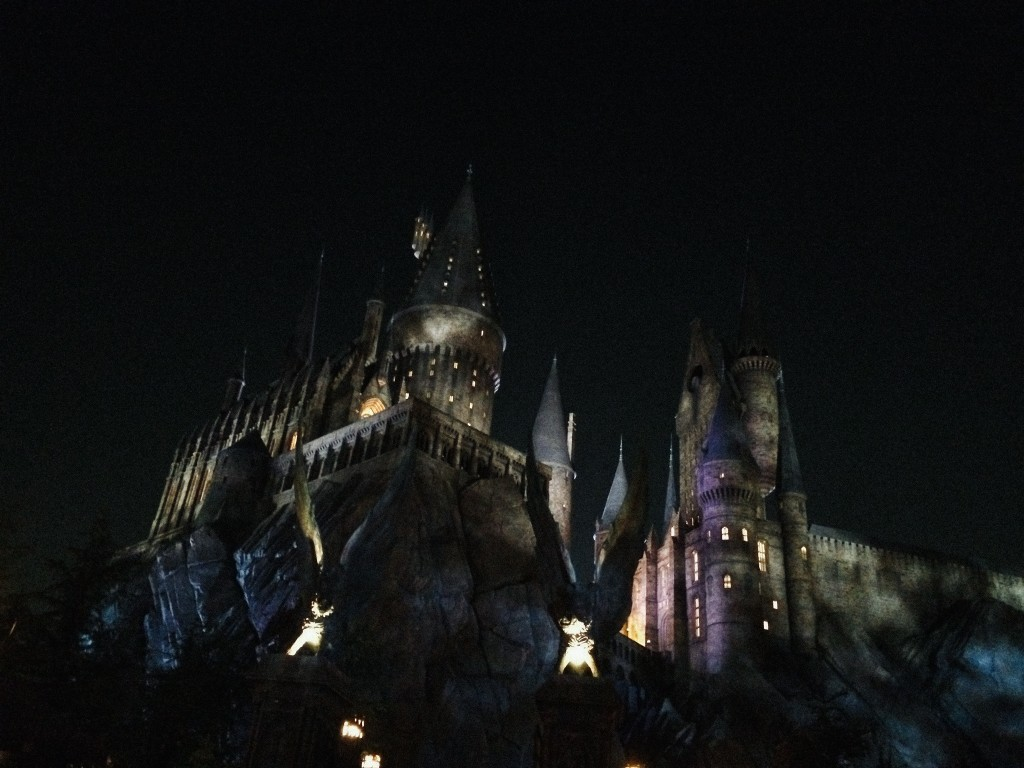 Hogwarts by night.