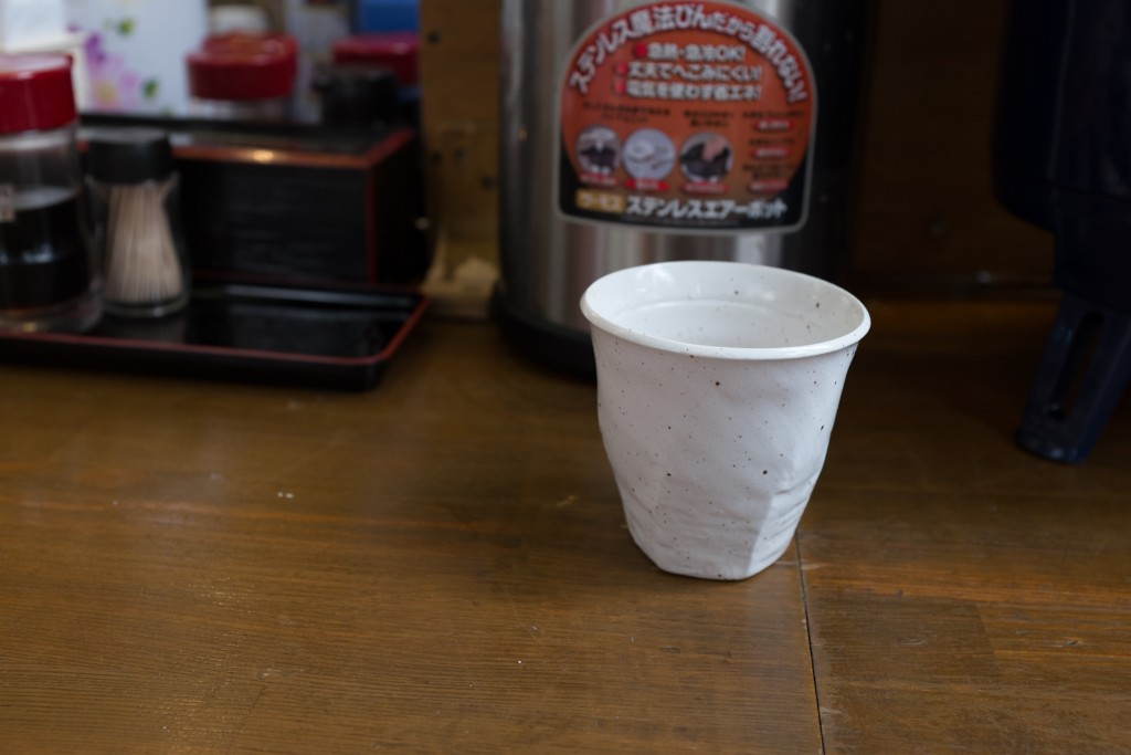 Cold Rooibos tea at Tsukiji market.