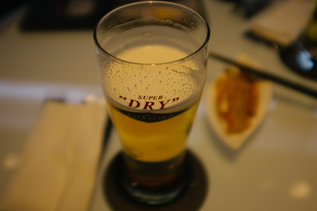 And a beer and a high end bar in Ginza, to get away from the heat outside.